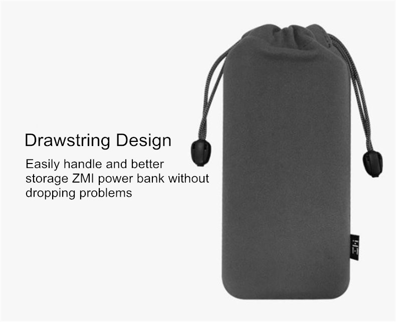 ZMI Portable Soft Drawstring Power Bank Storage Bag Collection Pouch