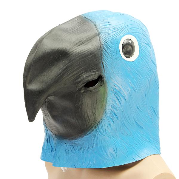 Blue Parrot Bird Mask Creepy Animal Halloween Costume T