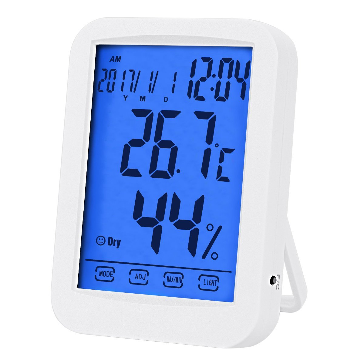 Loskii DC-07 Digital Temperature Hygrometer Alarm Clock Weather Forecast Trends Calendar Function Alarm Clock