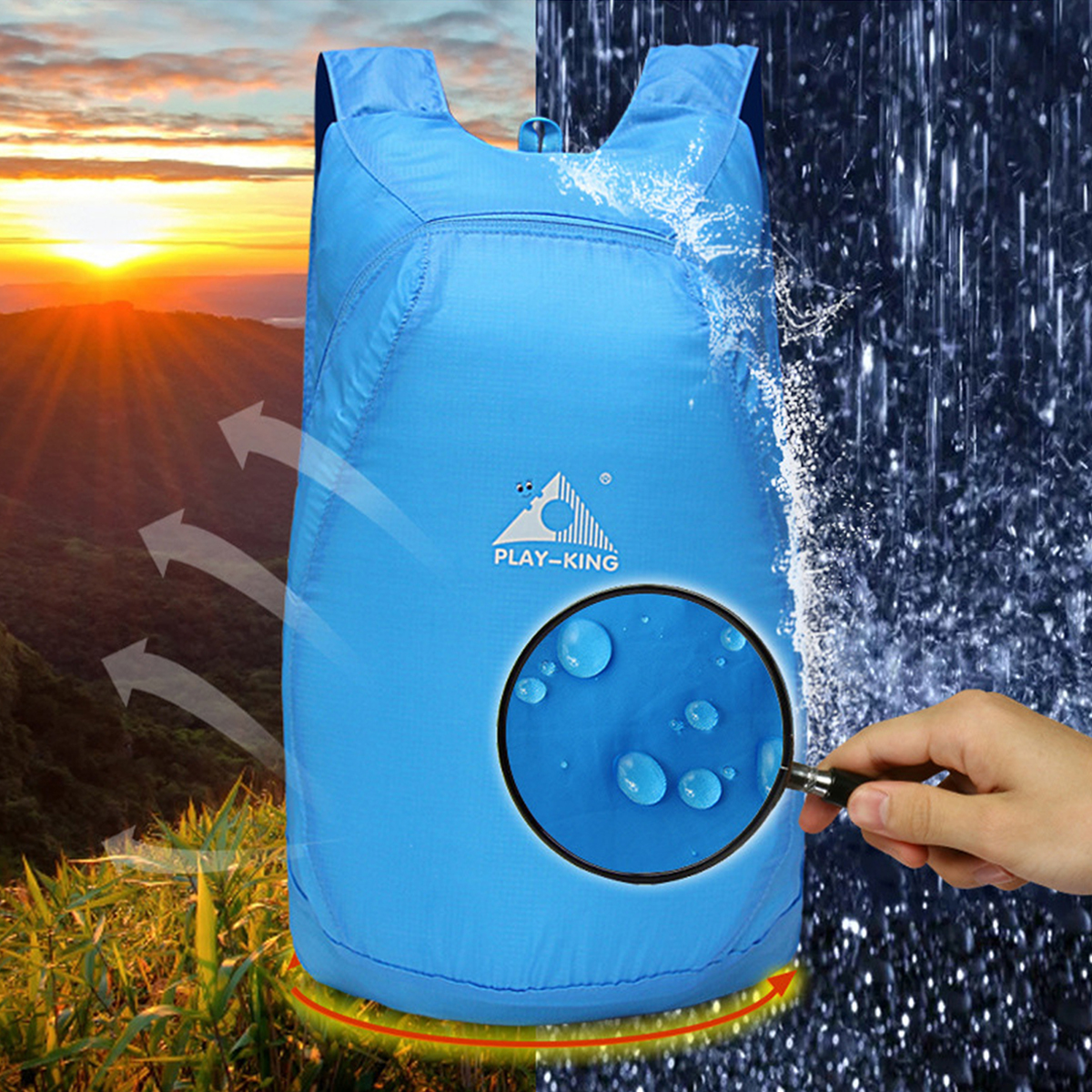 20L Foldable Waterproof Outdoor Climbing Bags Athletic Sport Hiking Travel Backpack