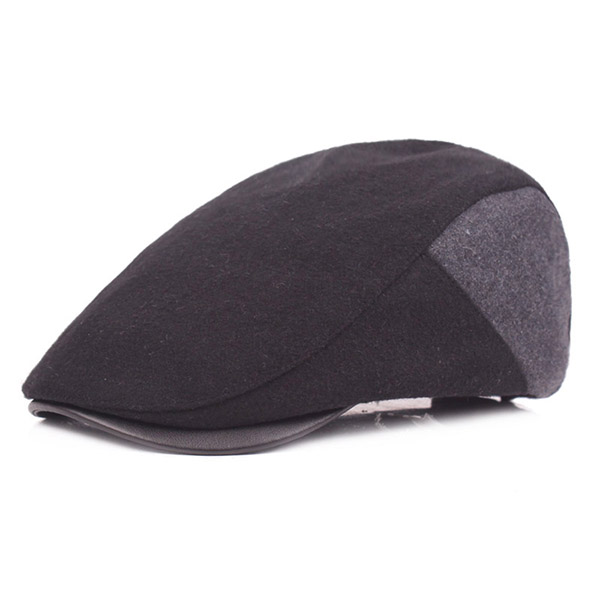 Mens Warm Wool Beret Caps Buckle Adjustable Paper Boy Cabbie Golf Gentleman Cap