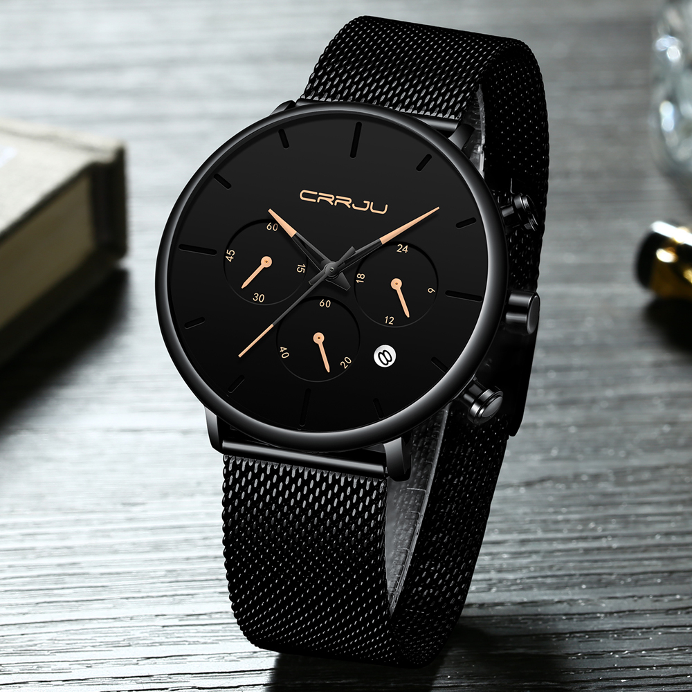CRRJU 2271 Men Atmospheric Dial Quartz Watch