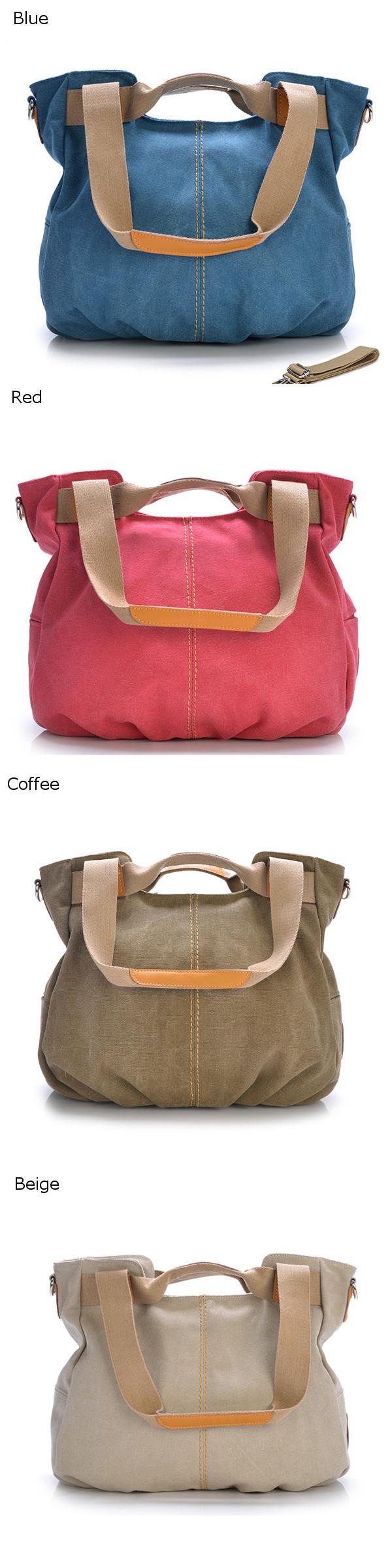 Canvas Casual Women Messenger Bags Vintage Handbag Shoulder Big Bag