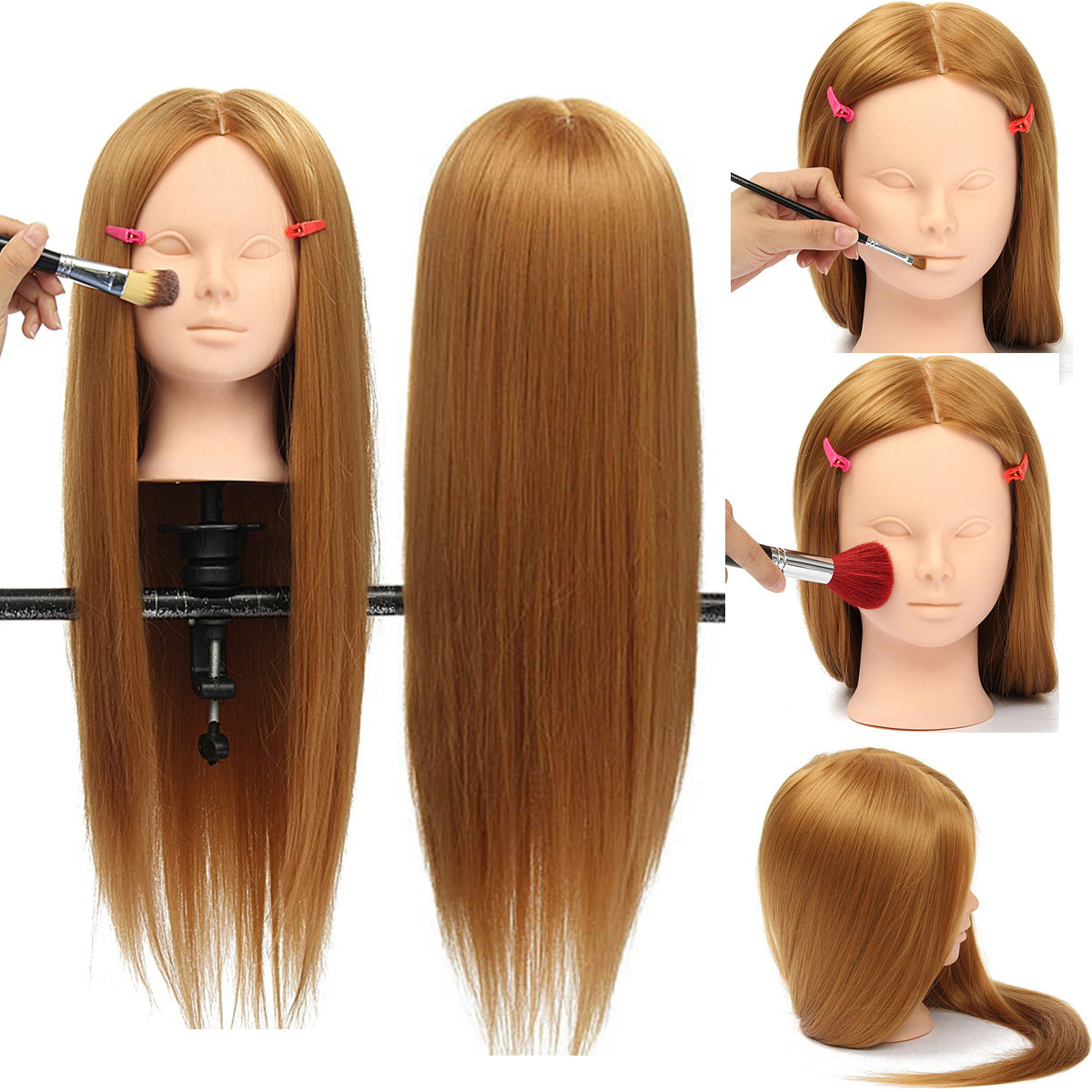 26 Long Hair Training Mannequin Head Model Hairdressing
