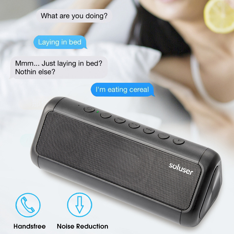 Portable Wireless bluetooth Speaker Dual Units 5000mAh Solar Charging Power Bank Speaker with Mic