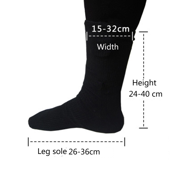 Pair Of Electric Heated Socks Hot Boot Feet Warmer For Motorcycle Riding Skiiing Black