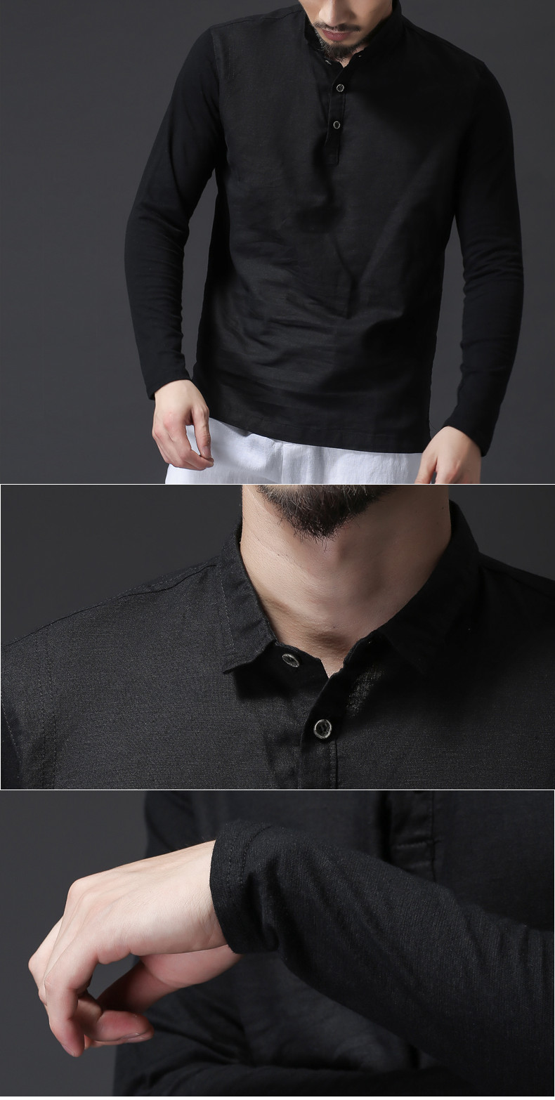 Men's Breathable Linen Cotton Casual T-Shirts