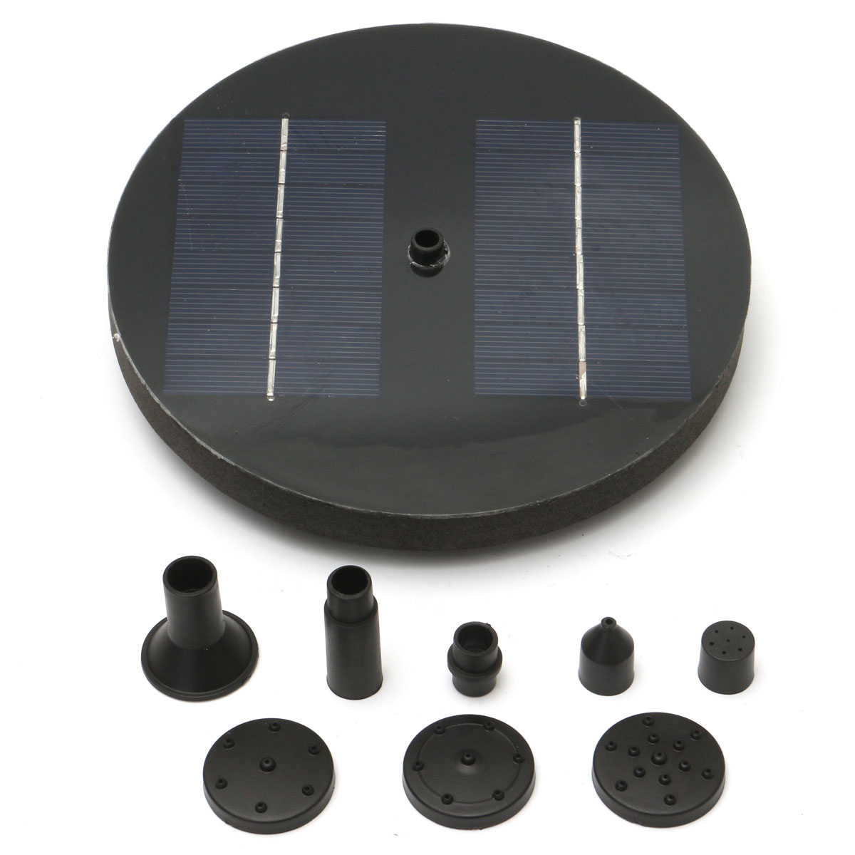 8V 1.6W Solar Powered Fountain Water Pump & Panel Floating Pool Garden Pond Watering