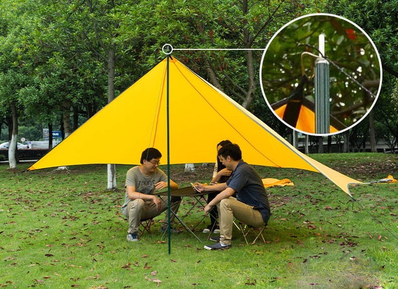 Naturehike Aluminium Foldable Tent Support Rod Outdoor Awning Hiking Camping Sun Shelter Reinforced