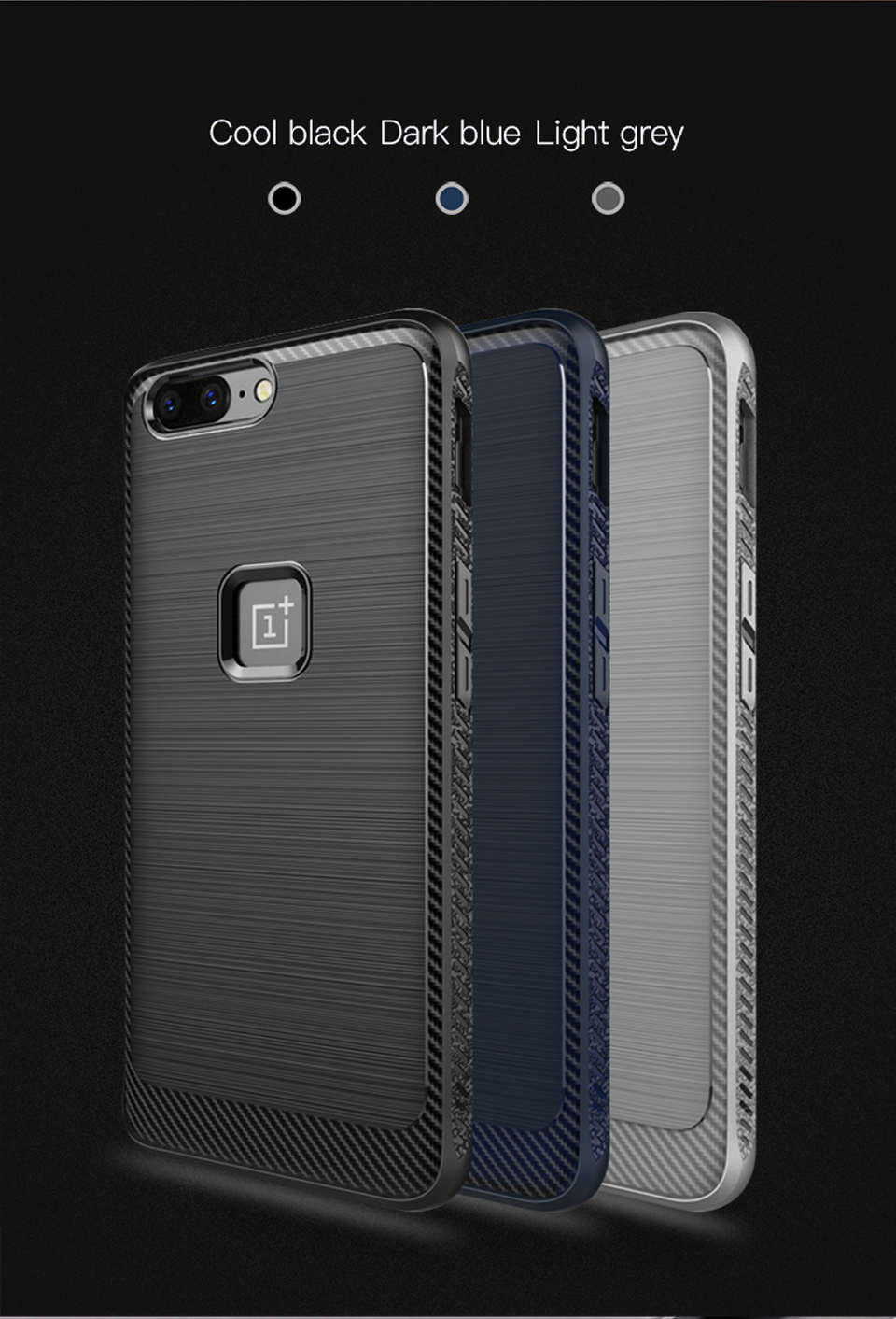 Ultra Thin Shockproof Carbon Fiber Soft Silicone Protective Case Cover Skin Protector For OnePlus 5
