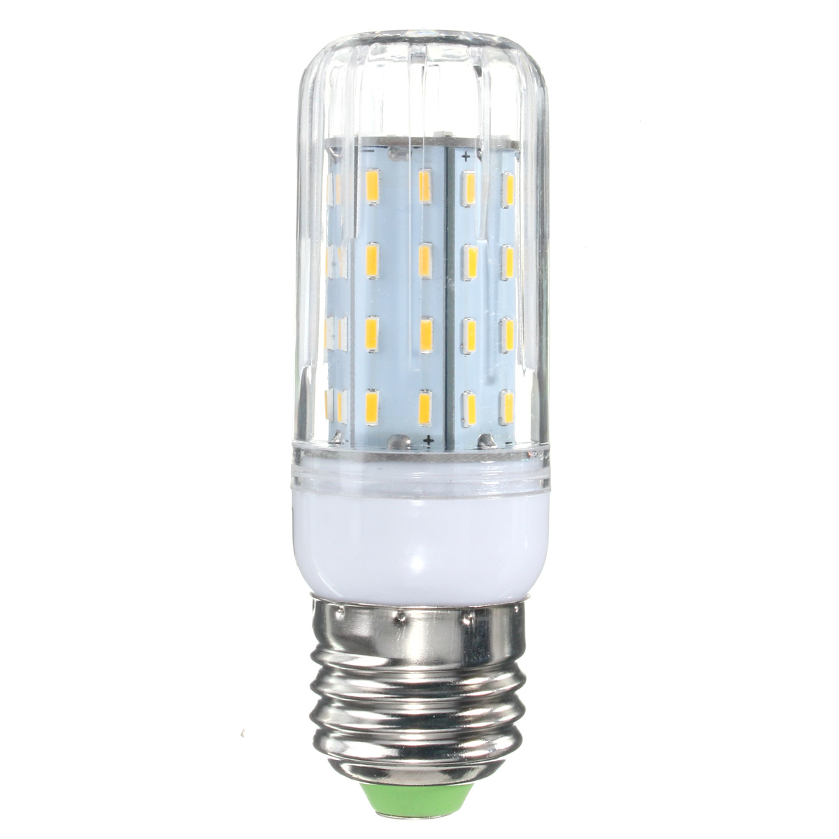 E27 B22 E12 E14 G9 GU10 6W 56 SMD 4014 LED Warm White White Cover Corn Bulb AC 110V
