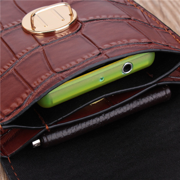 Women Crocodile Shoulder Bags Girls Mini Wallet Functional 6.5 Inch Phone Case For Iphone Xiaomi