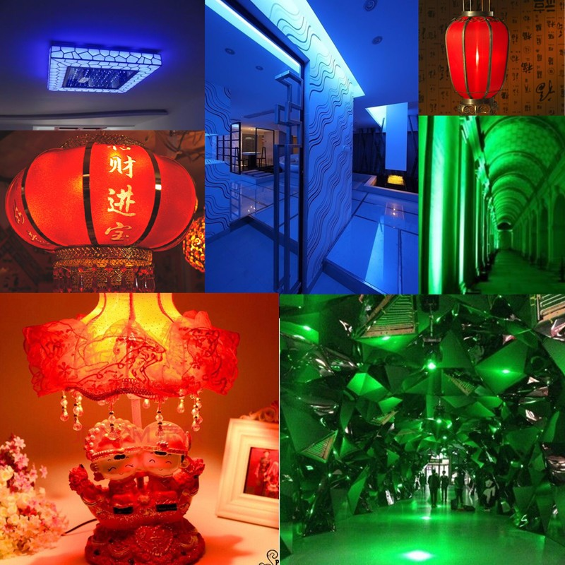 E27 E14 B22 9W 96 SMD5050 800LM 360° Red Green Blue Non-dimmable LED Corn Light Bulb Lamp AC220V
