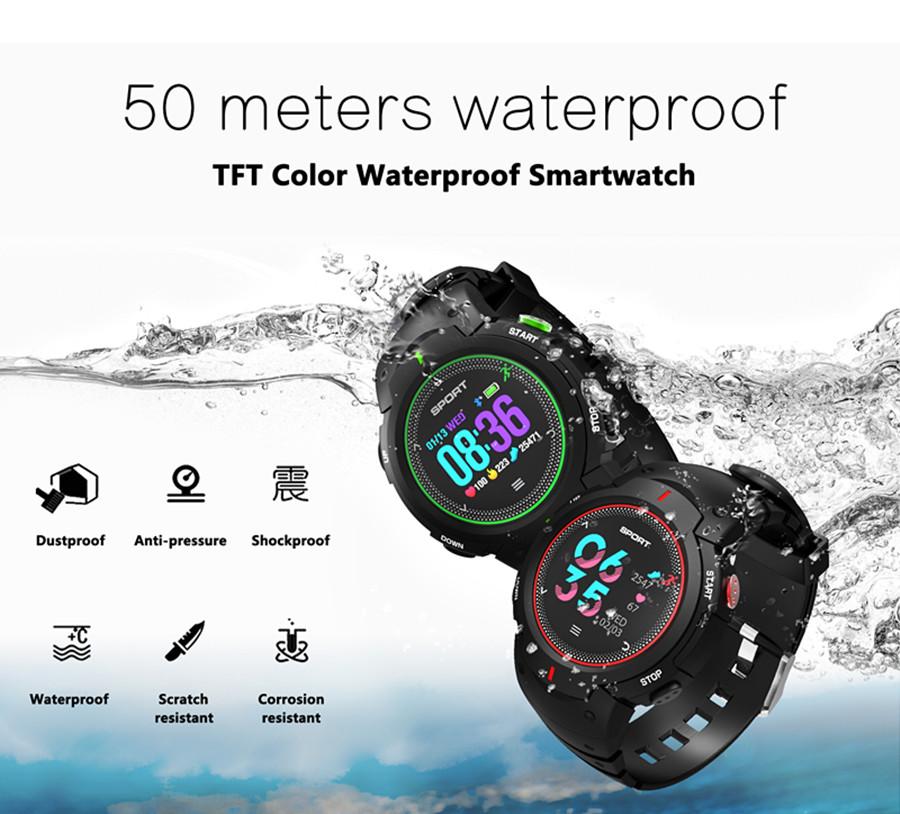 NO.1 F13 IP68 Waterproof Multi-sport Mode Heart Rate Monitor Remote Camera Smart Watch Wristband