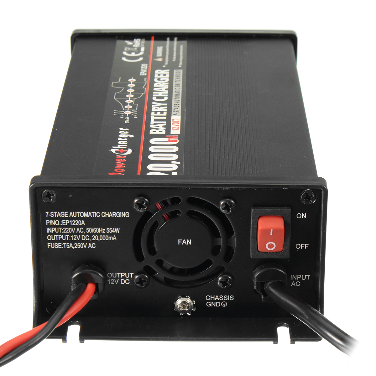 12V 20A Battery Charger For Lead-acid Battery Fully Automatic 7 Stage Charger