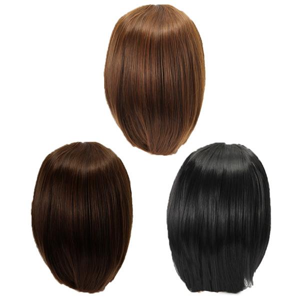 3 Colors Kanekalon Fiber Wig Charming Fluffy Straight Natural Hair Full Wigs Party Cute Cosplay