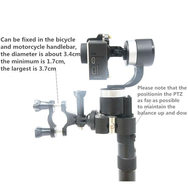 Plastic Bicycle/Motorcycle Fixed Clip Mount for Zhiyun Smooth C/II/Gopro4/5/6/OSMO/Feiyu Gimbal