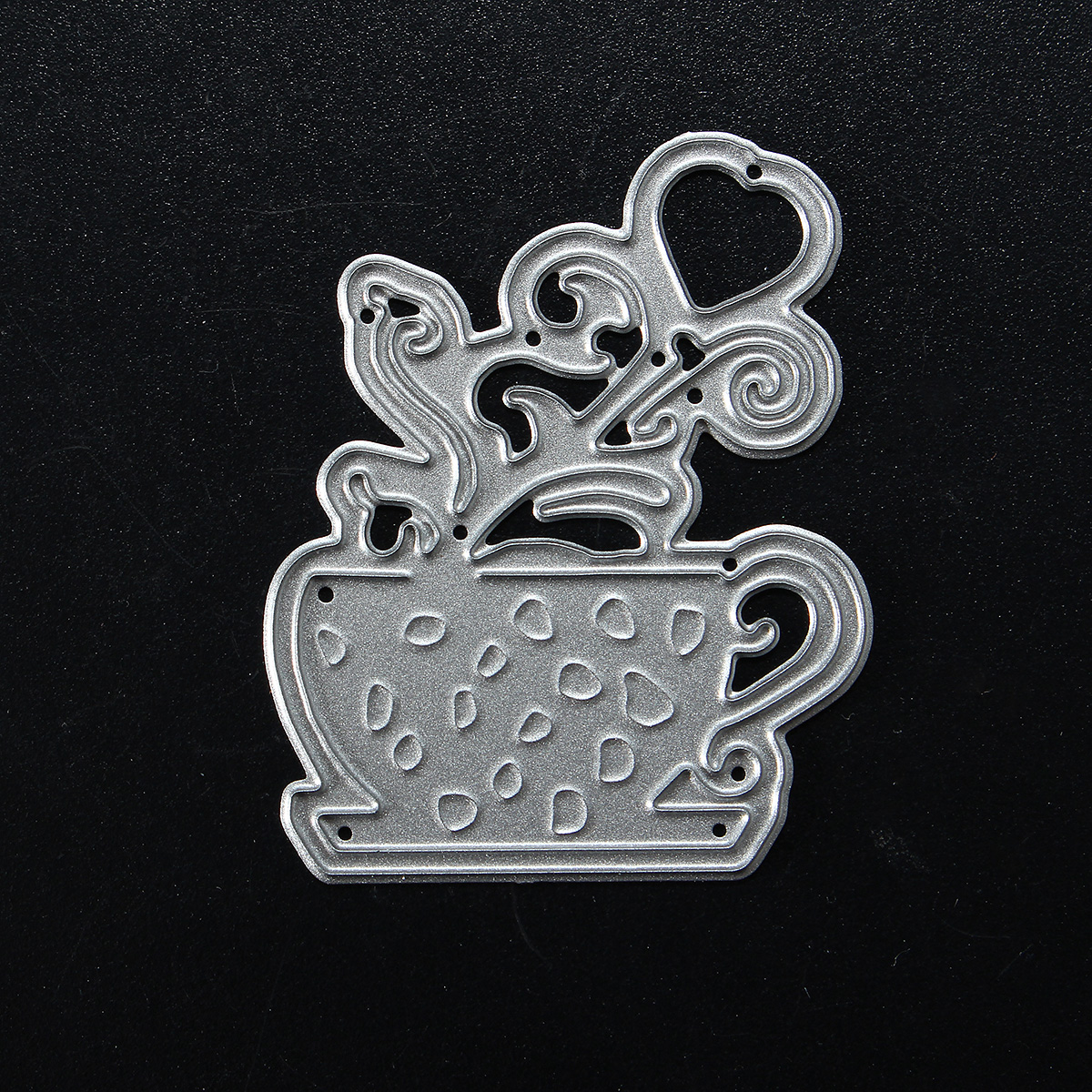 DIY Decor Coffee Love Heart Metal Cutting Dies Stencils Scrapbook Photo Album Paper Card Craft
