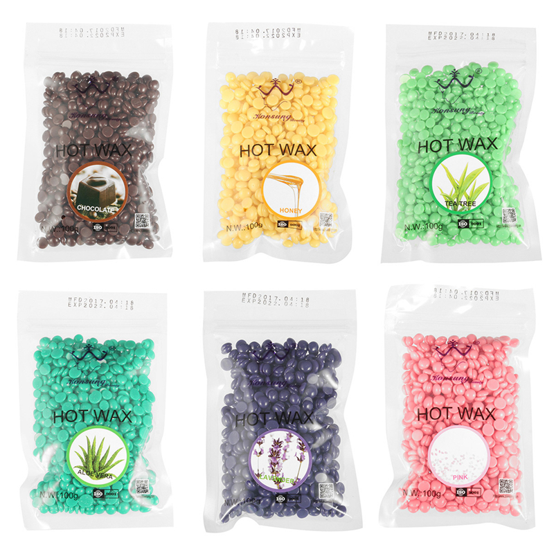 100g No Strip Depilatory Hot Film Hard Wax Bean Pellet Waxing Hair Removal