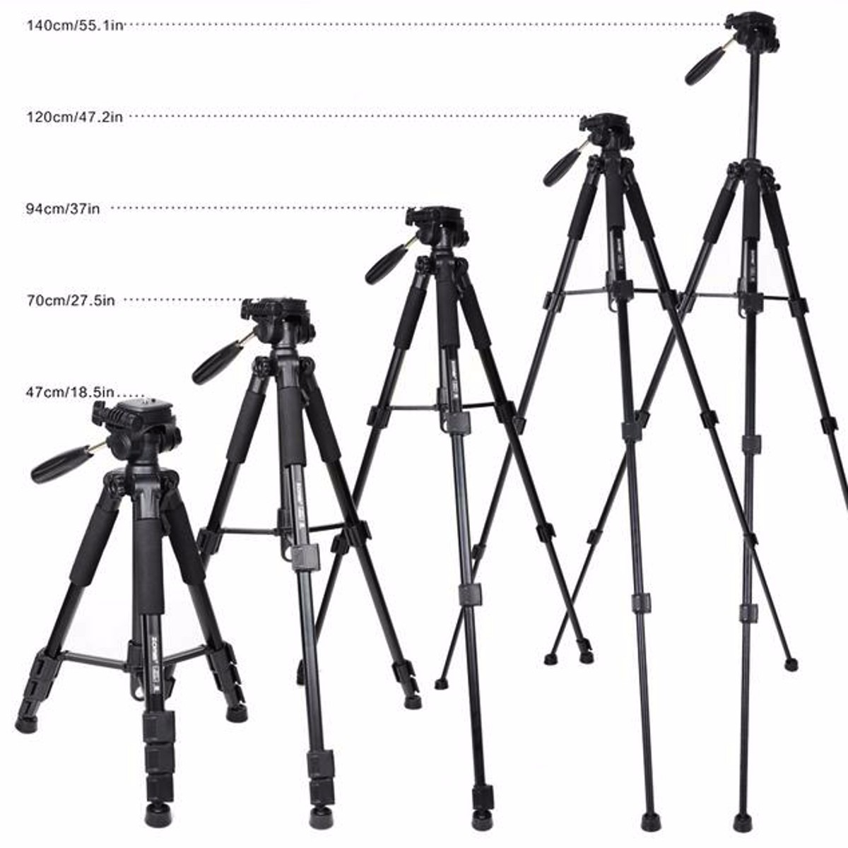QZSD Q111 Professional Travel Aluminium Tripod Monopod With Ball Head For DSLR Camera