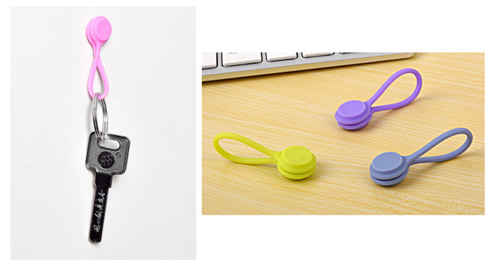 3 pcs Silicone Magnet Coil Earphone Cable Winder Cable Organizer