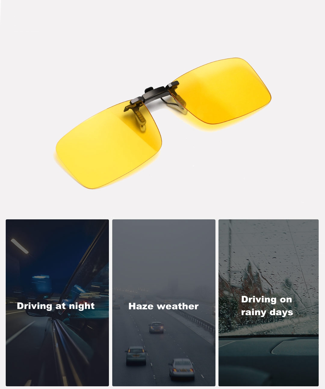 XIAOMI TS Night Vision Clip-on Glasses TAC Polarized Lenses