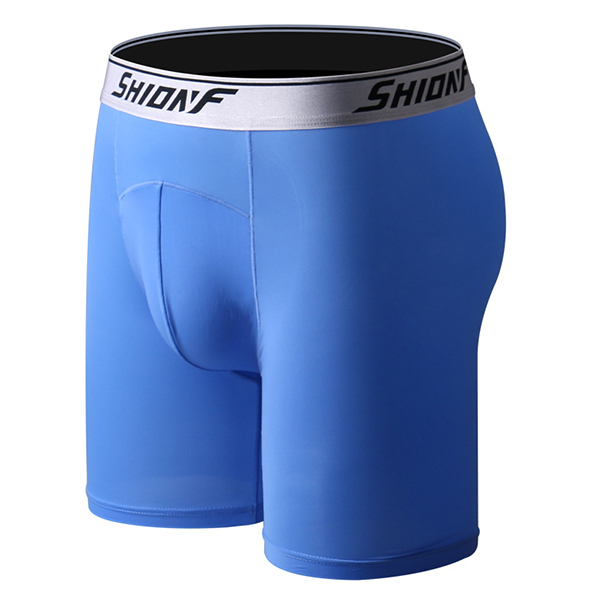 Mens Sexy Sport Home Casual Super Thin Ice Silk Thin Anti Friction Boxer Underwear