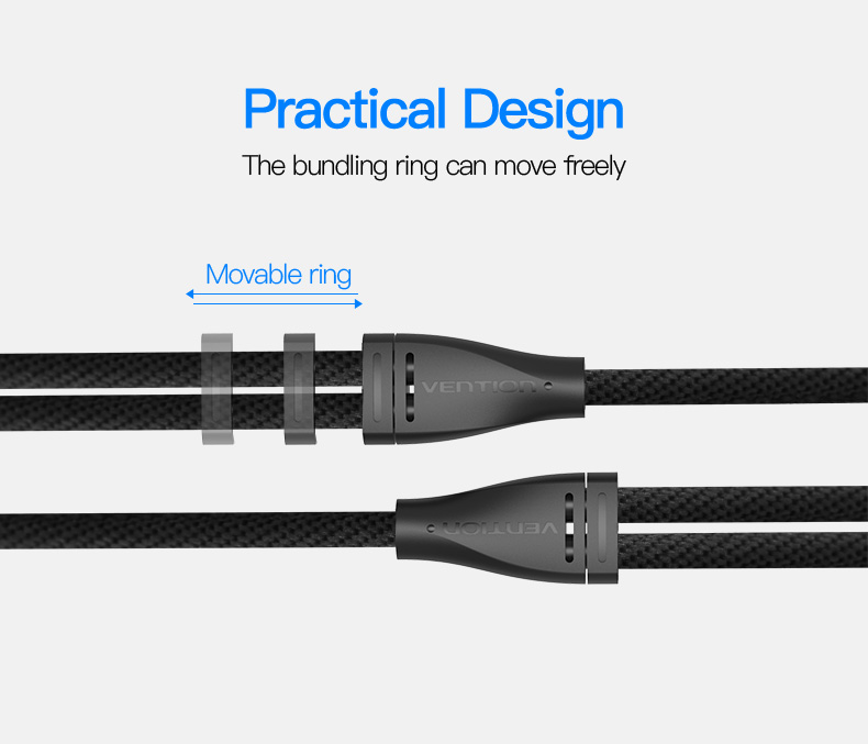 Vention Audio Cable 3.5mm Male to 2 Female Earphone Microphone Extension Cable Headphone Splitter