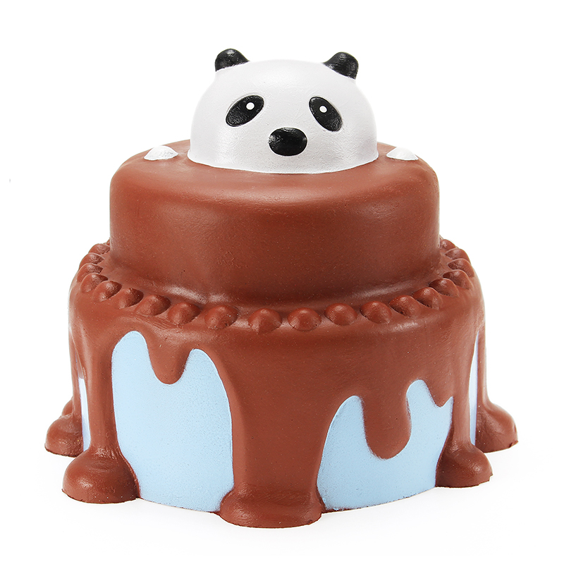 Squishy Panda Cake 12cm Slow Rising With Packaging Collection Gift Decor Soft Squeeze Toy
