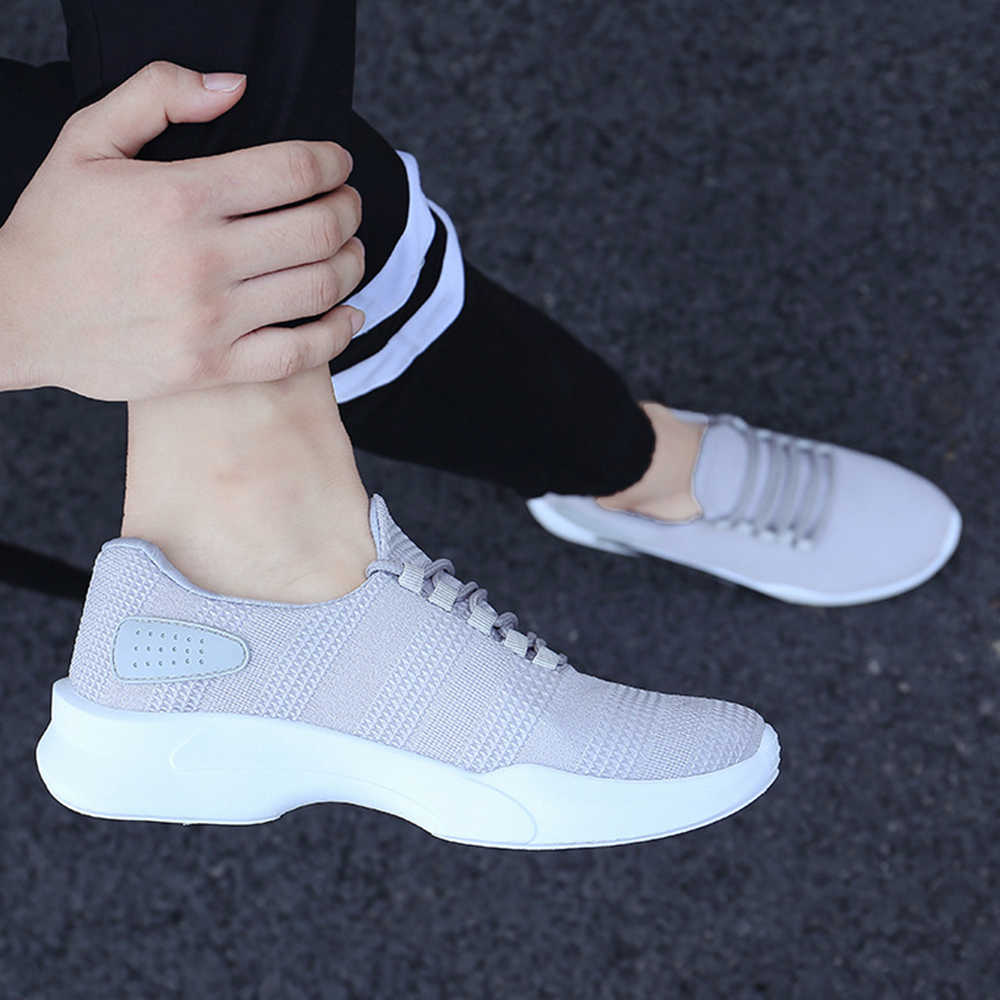 Men Knitted Athletic Shoes Breathable Sports Sneakers Shoes