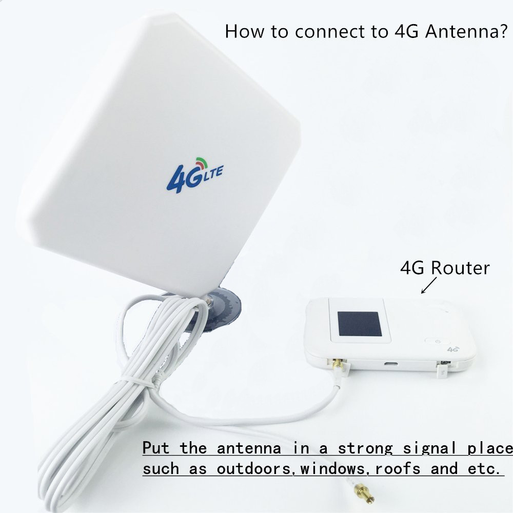 Bakeey 4G LTE Antenna 35dBi High Gain Mobile Signal Booster Amplifier TS9 For Huawei E5375 E5373