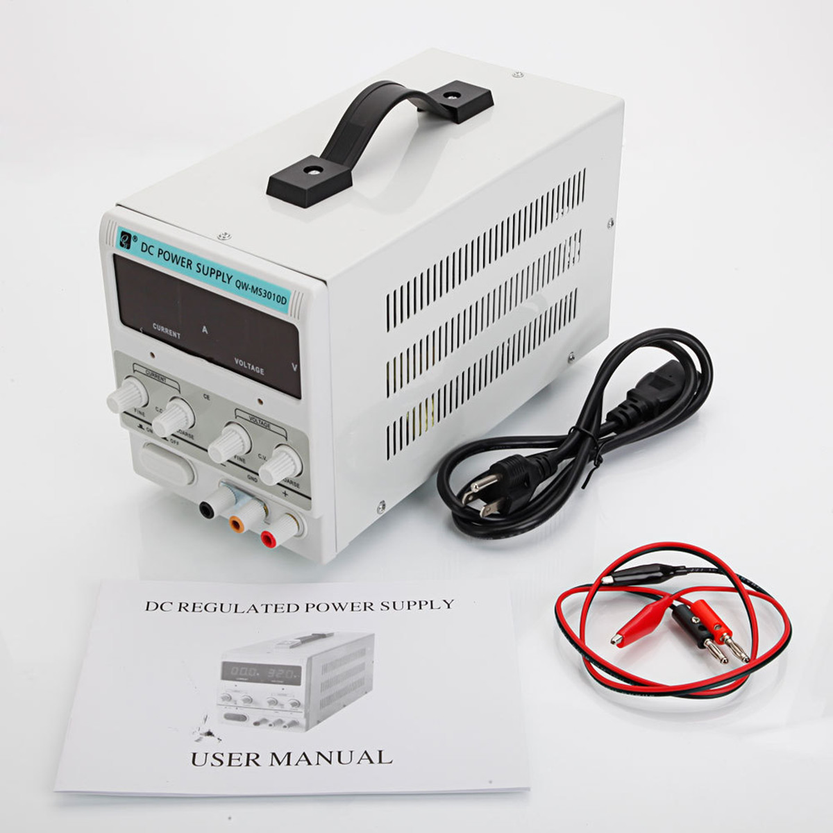 DC Power Supply Precision Variable Digital Adjustable 30V 10A 50/60Hz Clip Cable UK/AU/US Plug Steady LED Display Protection