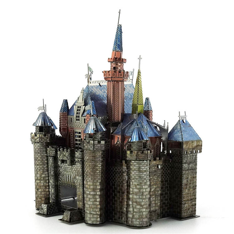 Aipin DIY 3D Metal Castle Puzzle Stainless Steel Model Building Kit Collection Gift