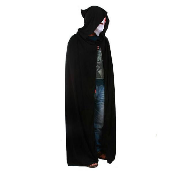 Adult halloween party cosplay clothing long black hooded cloak death adult halloween party cosplay clothing long black hooded cloak death big cloak cosplay devil cloak fandeluxe Gallery