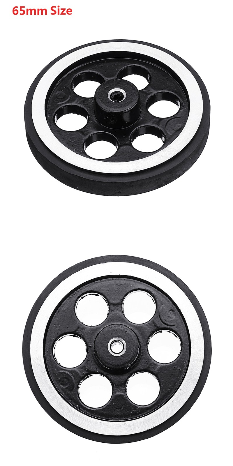 95mm/65mm Aluminum Alloy Frame Wheel + 12v DC Motor with Cable DIY Kit for Smart Chasssis Car Part