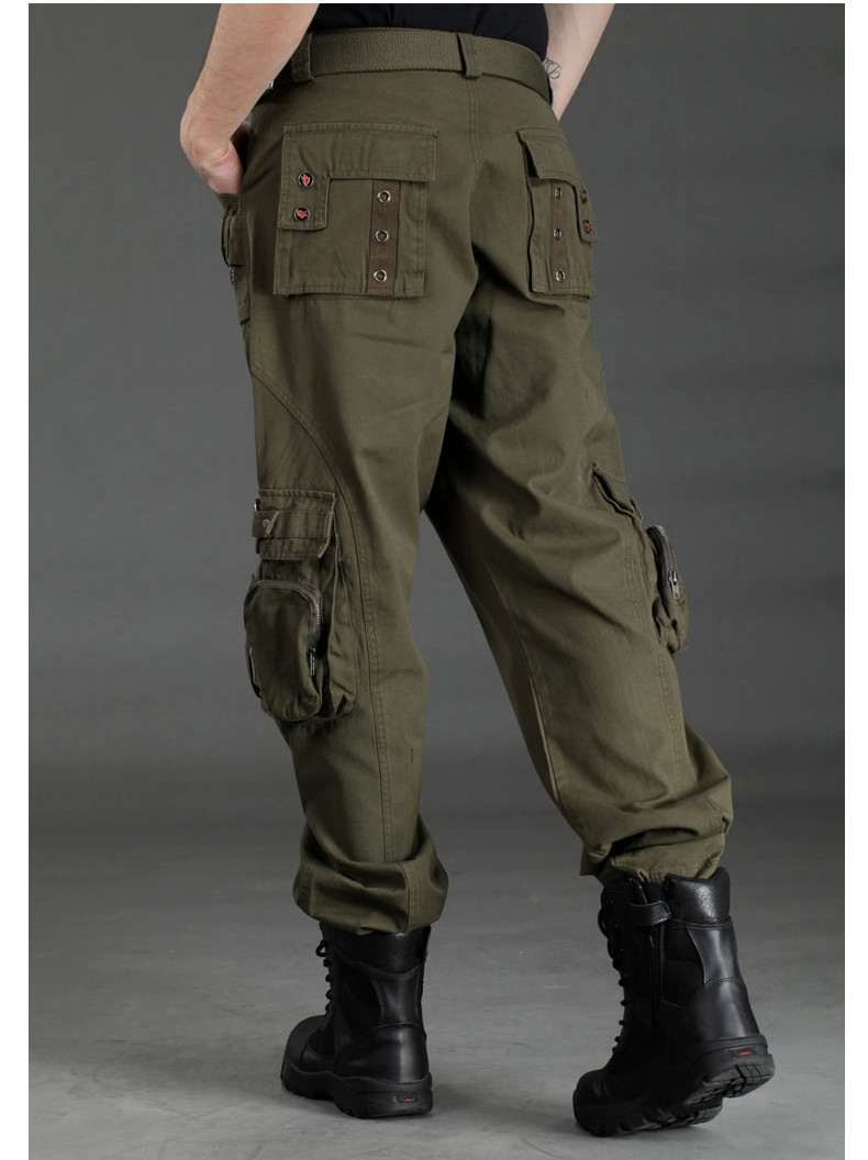 Outdoor Camouflage Multi Pockets Casual Pants Men's Military Tactical Trousers Overalls