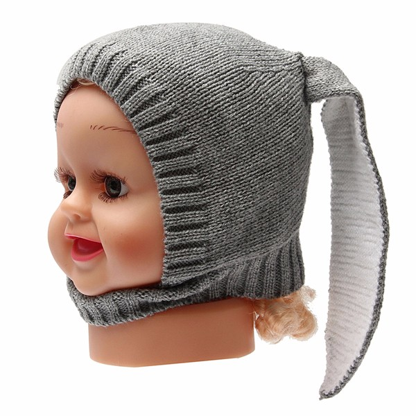 Baby Kids Winter Warm Super Cute Beret Beanie Rabbit Ears Cap Knitting Hat