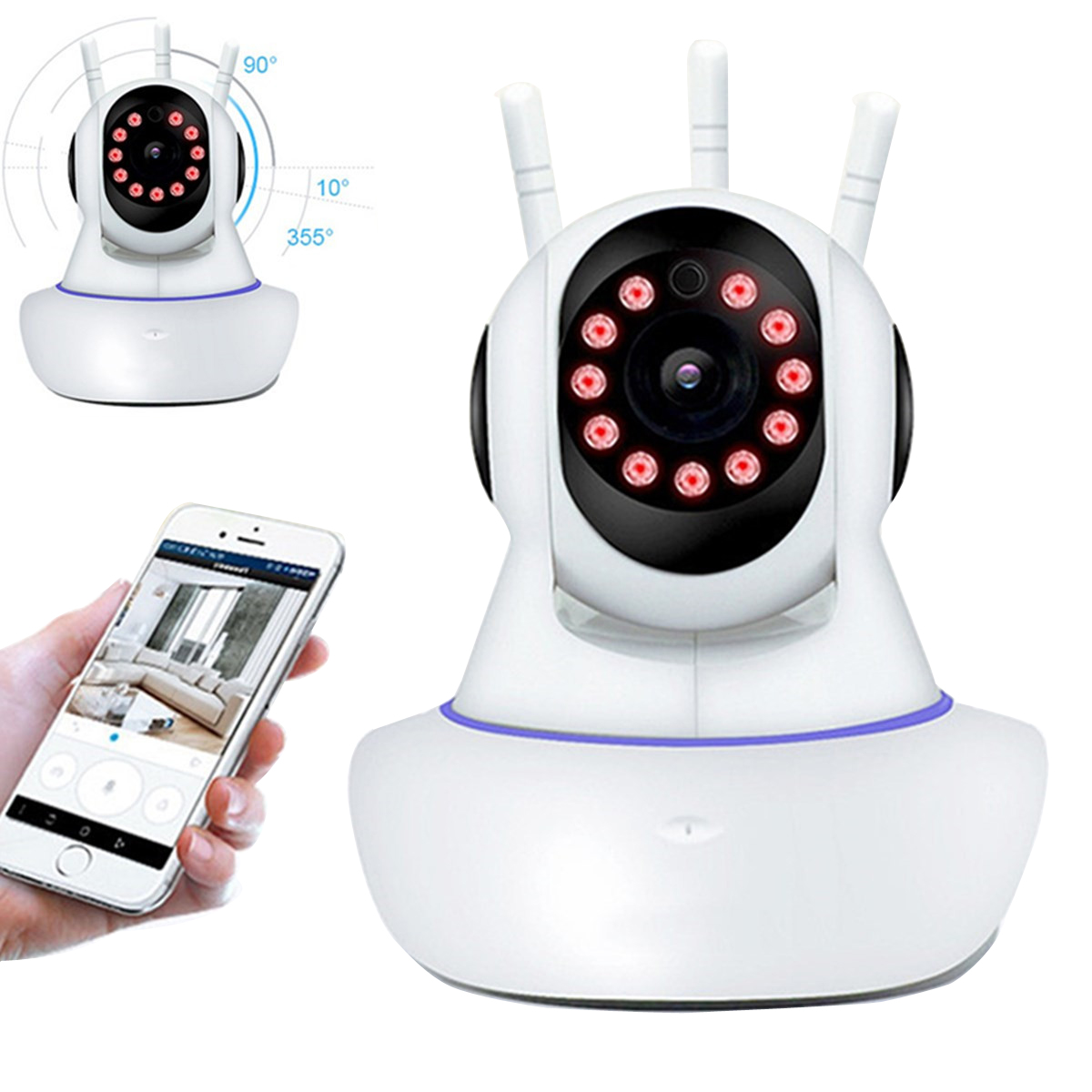 1080P 360 Panoramic Wireless Wifi Security IP Camera Mo