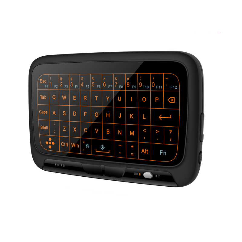 H18 Plus Backlit bluetooth Wireless Full Touchpad Mini Keyboard Air Mouse For TV Box MINI PC