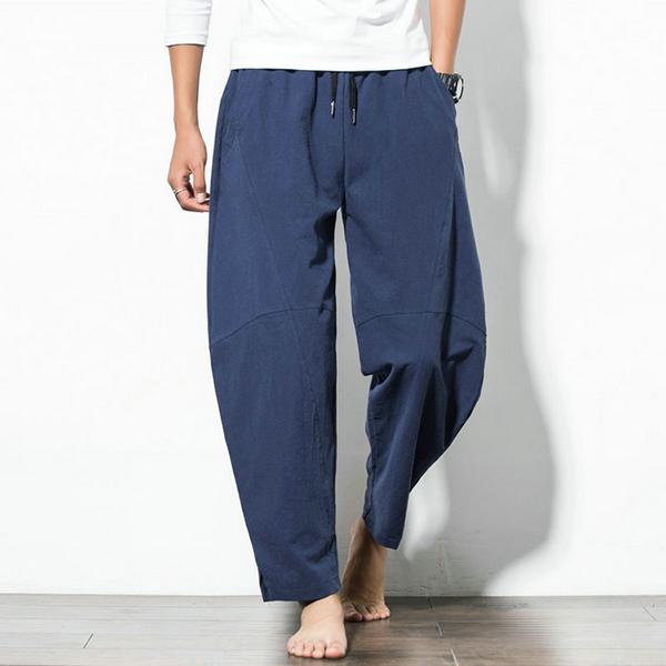 Casual Baggy Breathable Cotton Harem Pants