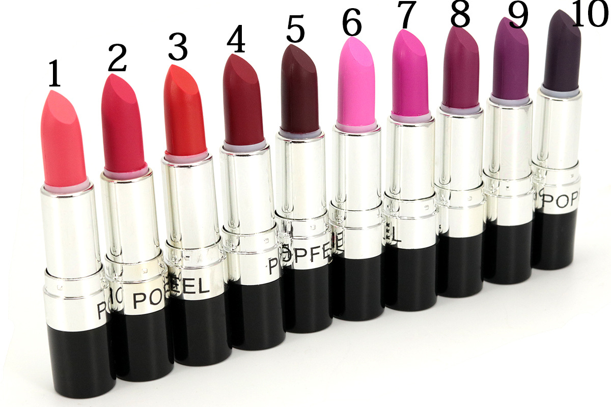 20 Colors Lip Nude Bright Stick Vampire Black Purple Lipstick Exaggerated Color Makeup Comestic