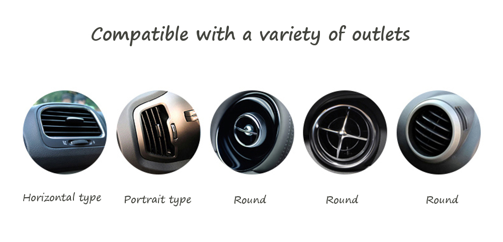 Cafele Mini Car Air Freshener Clip-on Air Vent Outlet Solid Perfume Bar Fragrance Diffuser