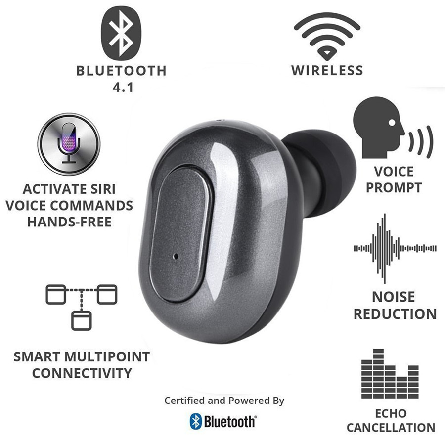 [True Wireless] TWS Portable Dual bluetooth Earphones Earbuds with 1500mAh Charging Box Power Bank