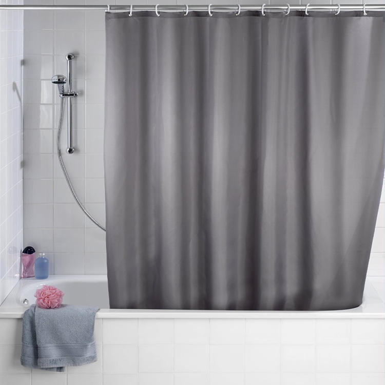 180x180cm Waterproof Shower Curtain Mold Resistant Plain Colour Bath Curtain