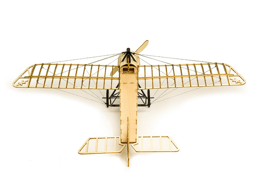 Dancing Wings Hobby Fokker-E 410mm Wingspan Balsa Wood Airplane Static Model Unassembled