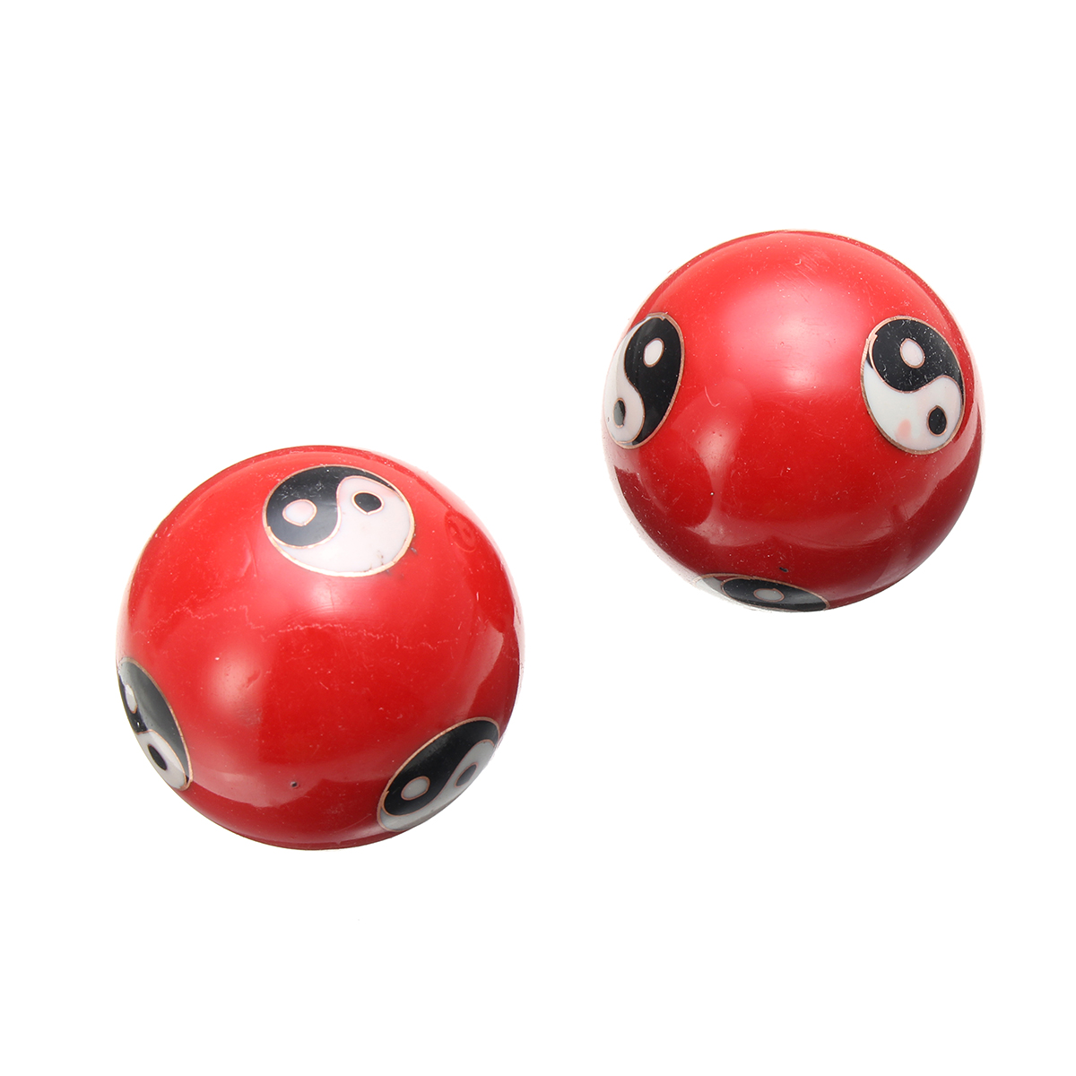 2pcs 42mm Chinese Health Yin Yang Therapy Tools Exercise Stress Relaxation Massage Baoding Ball