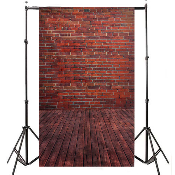 3x5ft 90x150cm Vinyl Wooden Floor Brick Studio Prop Photography Background