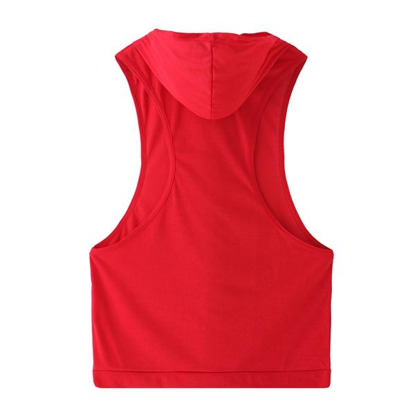 Stylish Men's Hooded Sleeveless Loose Fitness Vest