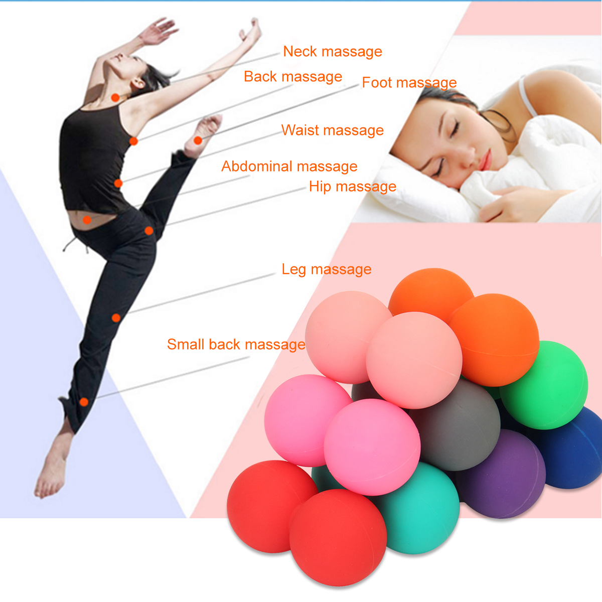Double Lacrosse Tools for Myofascial Release Physical Therapy Peanut Shaped Massage Ball