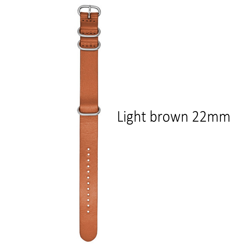 18/20/22mm Kraft Layer Leather Watch Band